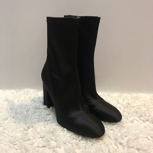 Sam Edelman Calexa Black Sock Booties